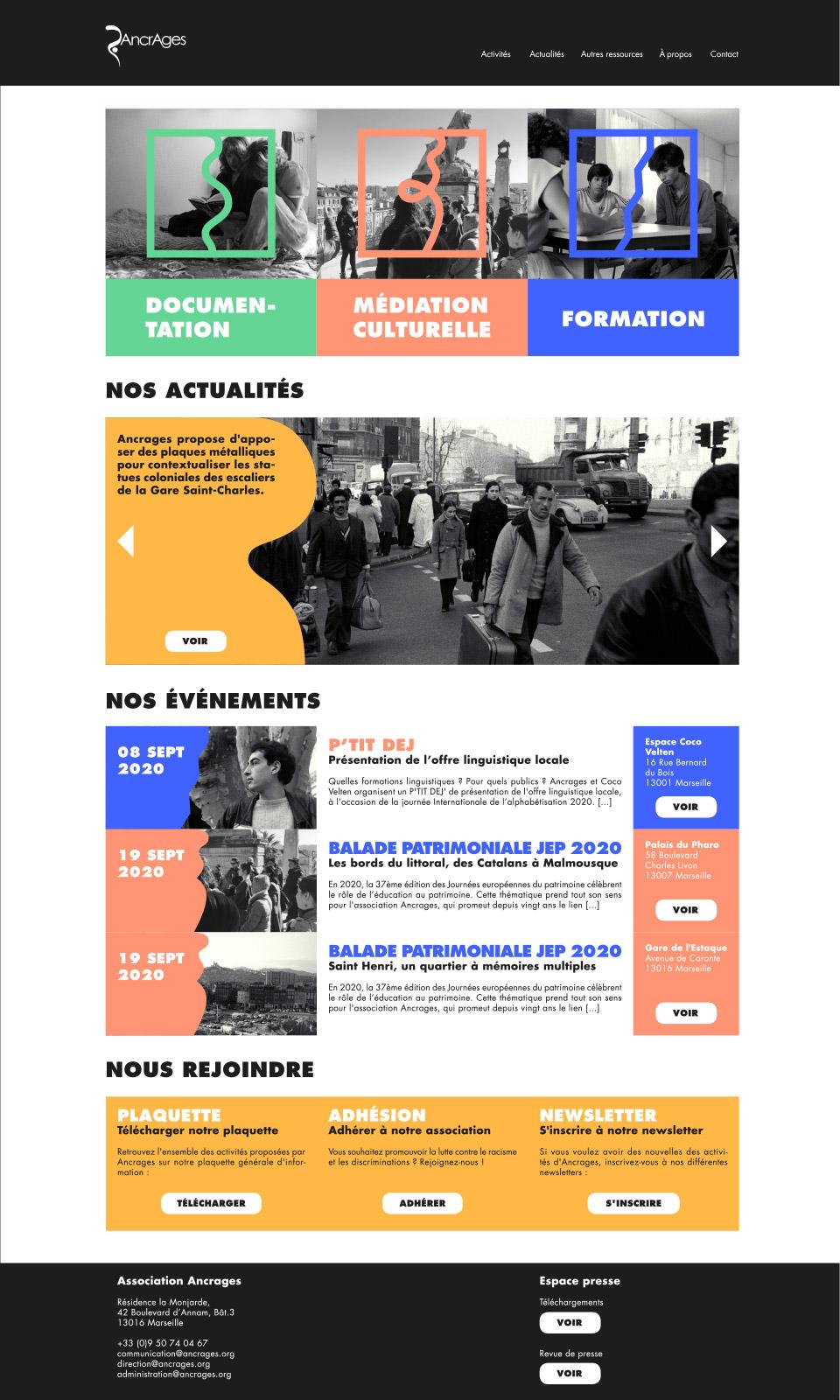 Site web Ancrages